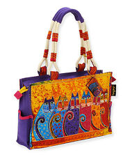 Laurel Burch Yellow Feline Tribe Medium Tote NWT