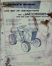 Jacobsen Super Chief Lawn & Garden Tractor Owners Manual 36pg 800 1000 1200 FORD