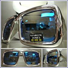 CLASSIC VINTAGE RETRO Style SUN GLASSES DISCO PARTY DJ PIMP SHADES Chrome Frame