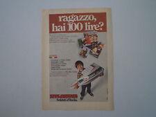 advertising Pubblicità 1972 ATLANTIC SOLDATI D'ITALIA