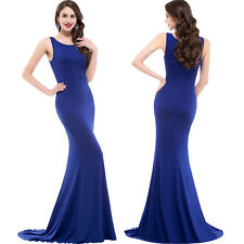 Ladies Long Mermaid  Wedding Formal Evening Ball Gown Masquerade Party Dresses