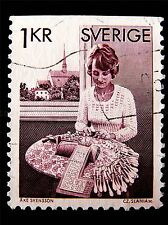 BOBBIN LACE MAKER VINTAGE STAMP SWEDEN PHOTO ART PRINT POSTER PICTURE BMP1343A