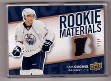 SAM GAGNER 07/08 UD Rookie Materials Patch RC RM-SG #d 15/15 SP Hockey Card 3col