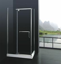 8mm Glass Shower Cubicle with Towel Rail and Tray Enclosure 1100 x 800 x 1850mm