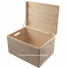 Wooden storage box with lid BPU170 39.5x29.5x23.5CM trunk toys shoes crafts