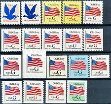 G Rate Series Complete Set of 19 Different MNH Stamps Scott's 2877 to 2893