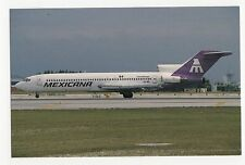 Mexicana Boeing 727 at Miami Aviation Postcard, A634