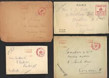 UK GB 1914-16 OHMS & ACTIVE SERVICE MILITARY LONDON FS PAID & PASSED BY CENCOR 4