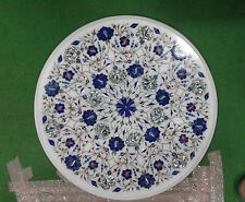 1.5'X1.5' MARBLE DINING COFFEE CORNER ROUND TABLE TOP MOSAIC INLAY