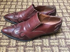 Hunt Club Womens Brown Leather Shoes Boots Renee  8.5 Brazil western detailed