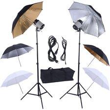 "Pro 33"" Photography Photo Lighting Studio Light 6 Umbrella Flash Mount Stand Set"