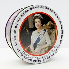 Vintage Rowntree Mackintosh Confectionery Tin Queen Elizabeth Silver Jubilee