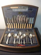 """Viner and Hall 54 piece """"Silver Jubile Cabinet"""" cutlery set"""