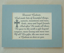 GODSON Beautiful RARE Gift GOD MADE Loyal Friends LOVING Dear verses poem plaque