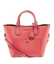 Michael Kors Greenwich Pink Saffiano Leather Tote