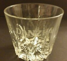 "Danzka Vodka Glass Ice Bucket Giant Shot Glass 5.5"" x 6""  Etched EUC"