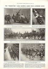 1915 WWI PRINT ~ RECRUITING LORD MAYOR'S SHOW CAPTURED GUNS ANZAC CANADIAN