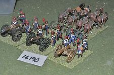 25mm napoleonic french artillery 3 guns 2 limbers & crews (16190)