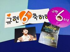 SUPER JUNIOR Kyuhyun concert slogan 6th anniversary & 5th stickers