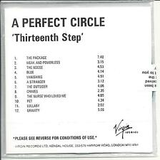 A PERFECT CIRCLE Thirteenth Step UK numbered/watermarked promo test CD sealed