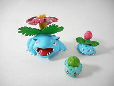 Tomy Pokemon Zukan Figure Bulbasaur Ivysaur Venusaur 1/40 Scale Set Original