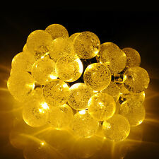 Solar 30 LED 20ft Fairy String Lights Crystal Ball Garden Fence Path Landsc