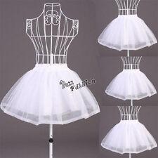 Lady White Skirt Lolita Bustle Underskirt Petticoat Tutu Women Girl Cosplay