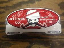 VINTAGE STYLE HELLINGS CO. LICENSE PLATE TOPPER 32 FORD SCTA GASSER HIGHBOY