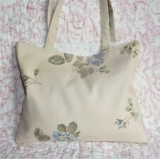 Ladies Large Tote Bag Handmade in Laura Ashley fabric Bryony Lined & Interlined
