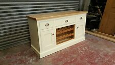 cream pine oak 2 door sideboard with drawers/made to measure/farrow and ball