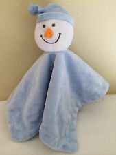 Babies R Us Light Blue Snowman Baby Blanket Security Lovey  12.5""