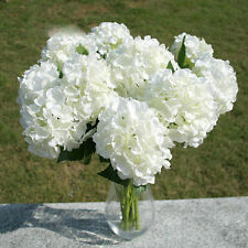 White Artificial Silk Flower Bouquet Hydrangea Party Decor Craft Art DIY