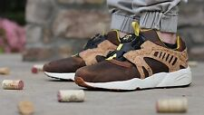 Mens Puma Disc Cage Lux Opt 2 Sneakers, Brown Cork / Curds & Whey 356410-02 10.5
