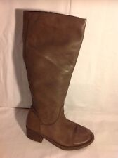 Office London Brown Knee High Leather Boots Size 39