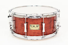 Pork Pie 6.5x14 Maple Snare w/ Waterfall Bubinga Veneer - Auth. Dealer NEW
