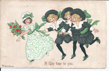 Vtg pc artist Florence Hardy - Dancing Children Scene; A Gay Time to You pu1912