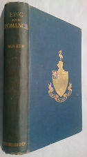 W P KER.EPIC AND ROMANCE.MEDIEVAL LITERATURE.H/B 1922,FINNESBURH.BEOWULF