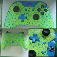 Xbox One Custom Bluetooth Controller BRAND NEW Blue LED Flash Yellow/Blue Splash