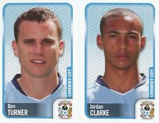 069 B. TURNER/JORDAN CLARKE COVENTRY CITY.FC STICKER FL CHAMPIONSHIP 2010 PANINI