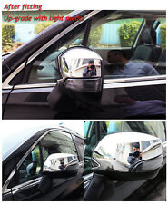 For Subaru Forester 2014-2017 Chrome Rearview Mirror Cover Trim With Turn Light