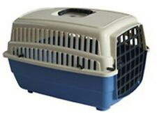 Sturdy Blue Pet Carrier for your cat, small dog, guinea pig, rabbit, etc