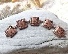 LOT 5 Copper Metal Links, Charms, Antiqued, Loose Charms, Jewelry Making, Craft
