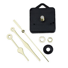 Quartz Clock Movement Mechanism Gold Hands DIY Repair Parts Kit SP