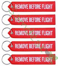 QTY=5 New RED/WHITE REMOVE BEFORE FLIGHT AVIATION TAGS -US Seller-