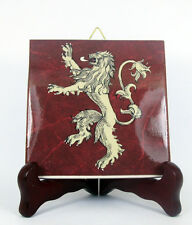 Game of Thrones - House Lannister - collectible ceramic tile handmade GOT Flag