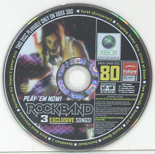 OFFICIAL XBOX MAGAZINE VOL. 80 DISC ~3 FREE ROCK BAND SONGS~ TRACKS **TESTED**