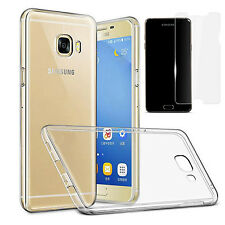 Crystal clear back and side bumper & Tempered glass for Samsung Galaxy A5 2017