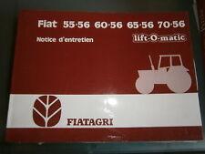 Fiat tracteur 55-56 60-56 65-56 70-56 : notice d'utilisation