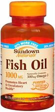 Sundown Fish Oil 1000 mg Softgels Cholesterol Free 60 Soft Gels