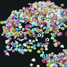 5000Pcs Mixed Glitter Heart Star Flower Sequins Nail Art Stickers Decal DIY 3mm